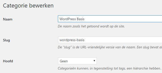 WordPress Geen Gategorie tekst wijzigen